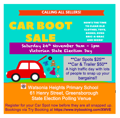 WHPS Car Boot Sale